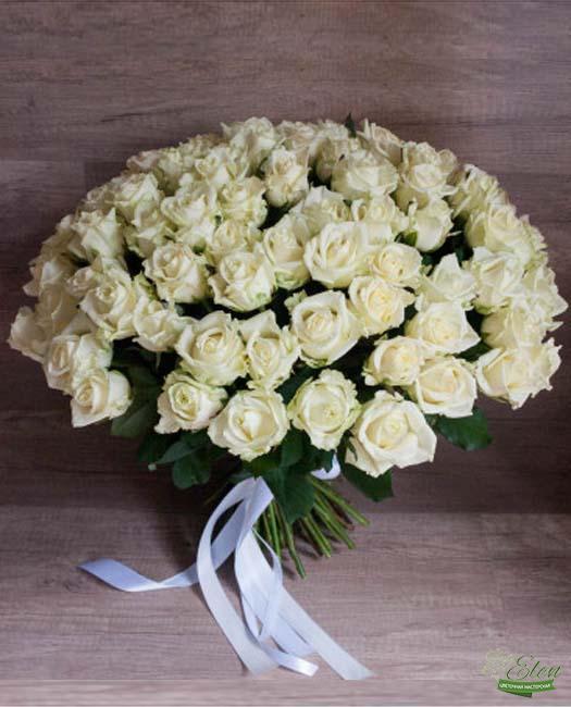 101 Белая Роза - Цветочная мастерская Элен, доставка цветов Киев.