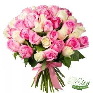 101 Белорозовая Роза - Цветочная мастерская Элен