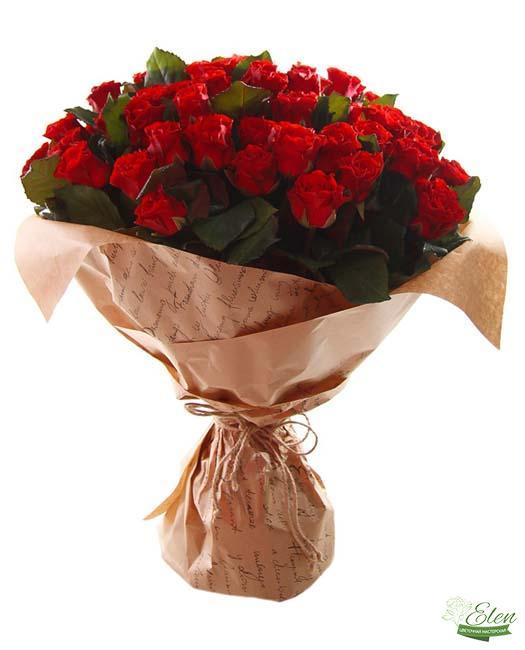101 Красная Роза - Цветочная мастерская Элен, доставка цветов Киев.