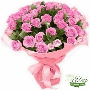 101 Розовая Роза - Цветочная мастерская Элен, доставка цветов Киев.