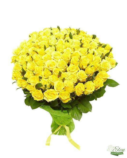 101 Желтая Роза - Цветочная мастерская Элен, доставка цветов Киев.