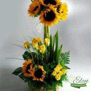"Корзина цветов ""Вокруг Солнца"""