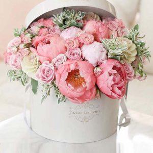 Коробка цветов Шедевр