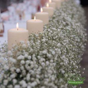 Декор Стола со Свечами и цветами