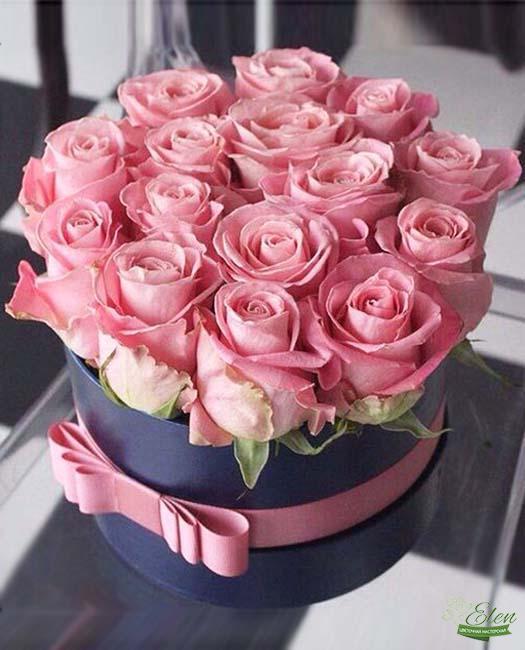 Коробка цветов Розовый Закат