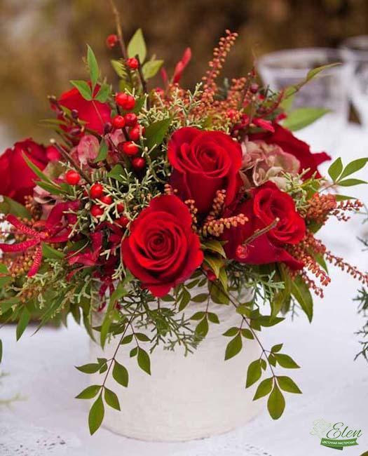 Коробка цветов Яркий День