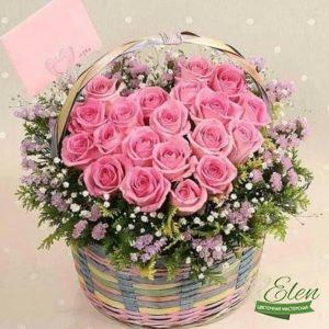 """Корзина цветов """"Моей Девочке"""""""