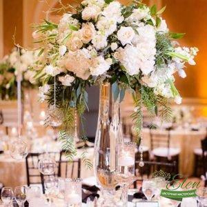 Оформление Стола Декором из цветов