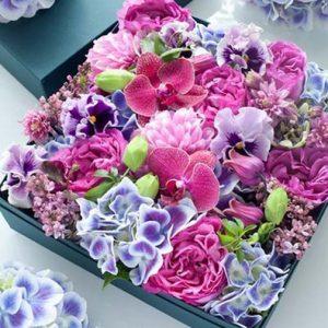 Коробка с цветами Вдохновение