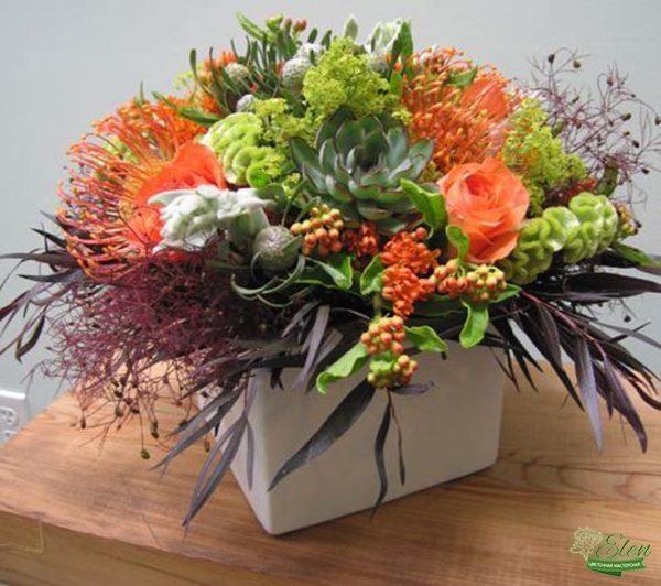 Коробка с цветами Осенние Краски