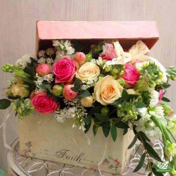 Коробка с цветами Яркий День
