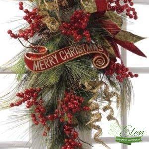 Букет Счастливое Рождество - Цветочная мастерская Элен