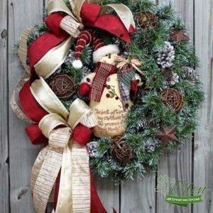 Счастливый Снеговик - Цветочная мастерская Элен