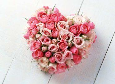 Сердца из Цветов букет с доставкой