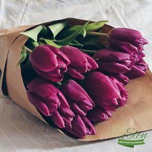 Букет тюльпанов Фиолетовое чудо