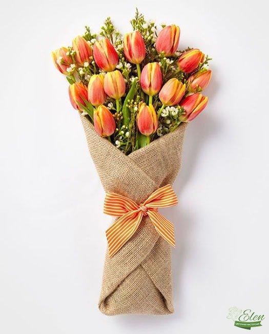 Букет тюльпанов Оранжевое настроение