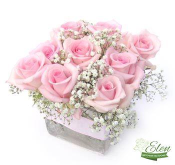 Цветочная композиция Нежный подарок отличный подарок для девушек любого возраста которая не оставит их равнодушными.