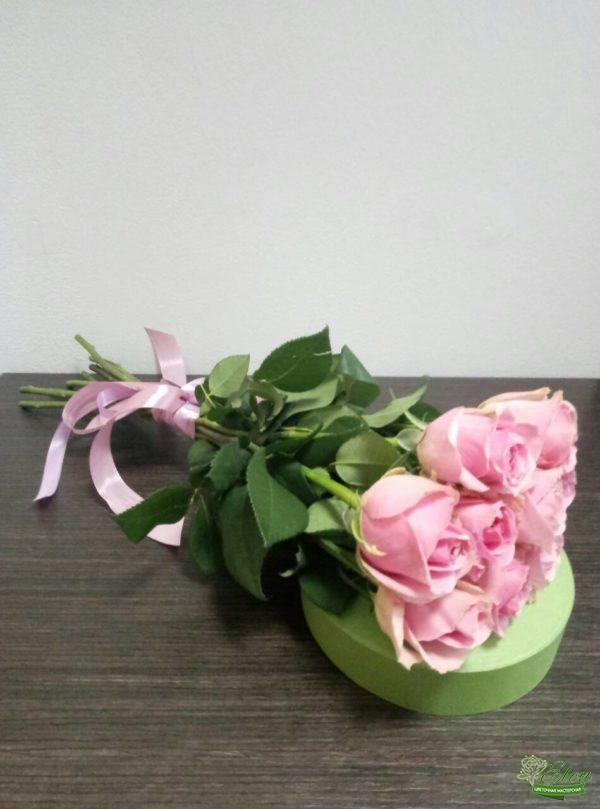 Голландские розы - букет из 9 голландских розовых роз
