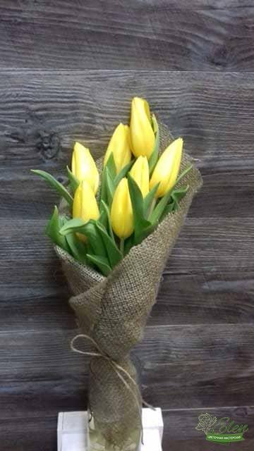 Киев Букет из 7 желтых тюльпанов