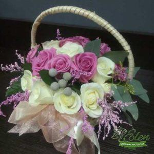 Корзина цветов Моя Единственнаяэто изысканный подарок для каждой женщины.