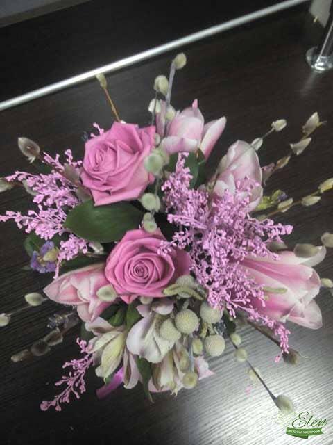Розовый Рай Цветочная композиция