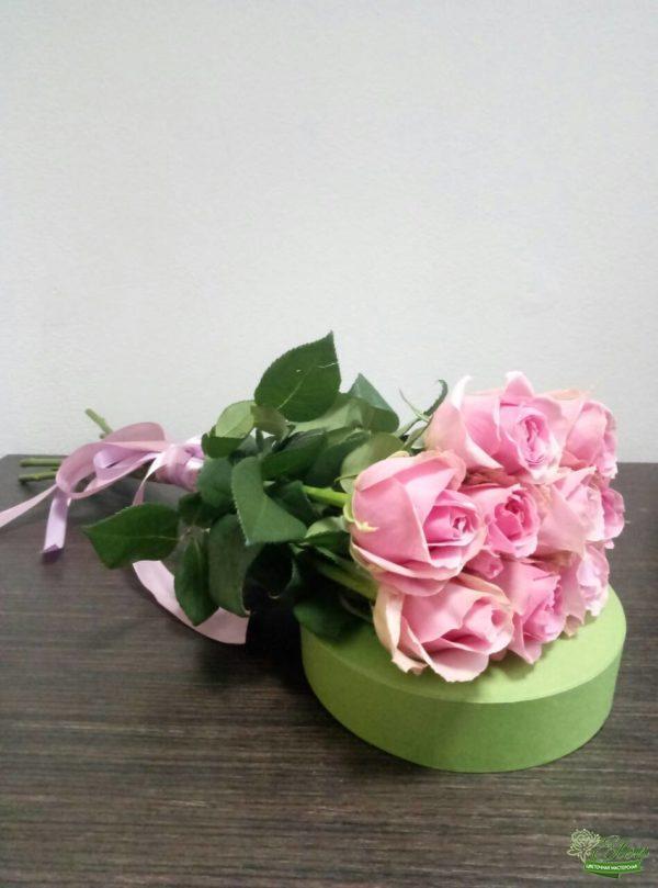 Розы голландские - букет из 9 голландских розовых роз