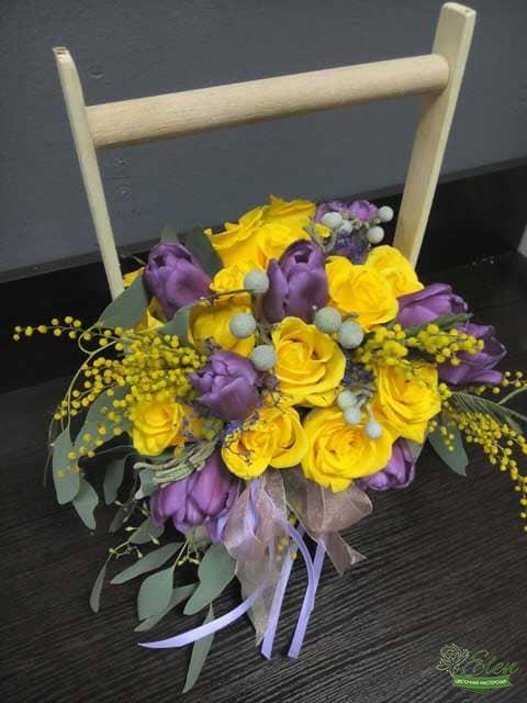 Розы и тюльпаны с доставкой