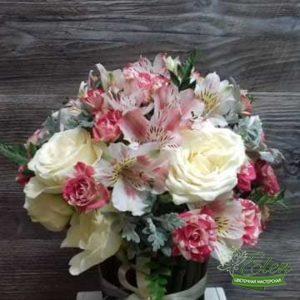 Цветочная композиция Нежный Поцелуй,хороший подарок для ваших родных и близких от нашей цветочной мастерской Elen.