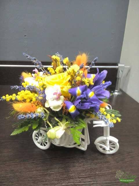 Цветы Композиция Велосипед