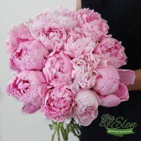 Букет из 15 розовых пионовотличный весенний комплимент от наших флористов.