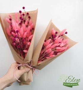 Букет из сухоцветов Малиновое Чудоотличный весенний комплимент от наших флористов.