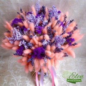 Букет из сухоцветов Малиновый Блюзотличный весенний комплимент от наших флористов.