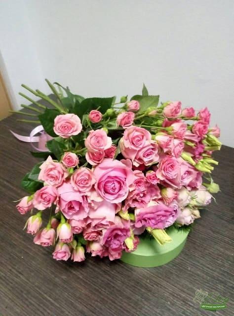 Букет из роз Розовый Микс с доставкой Киев