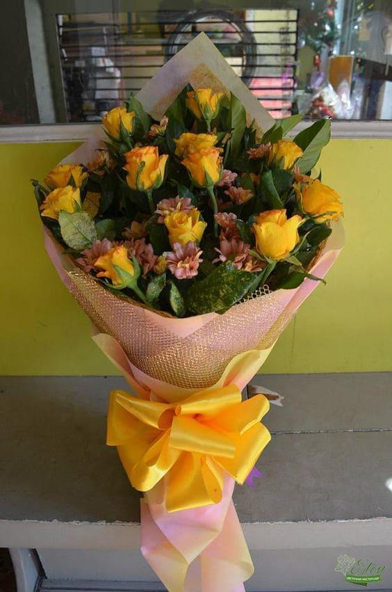 Букет роз Солнечные лучики