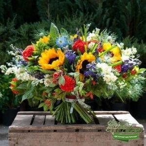 Букет цветов подсолнухов Лето