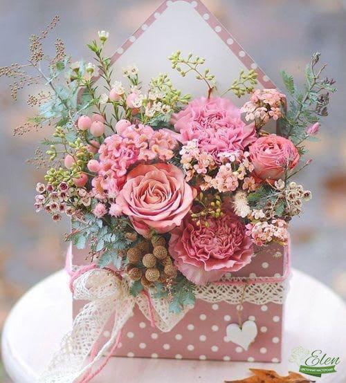 Нежность в конверте - Цветочная мастерская Элен