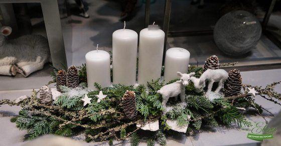 Декор на стол новогодний