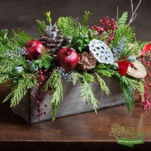 Коробка новогодняя подарочная