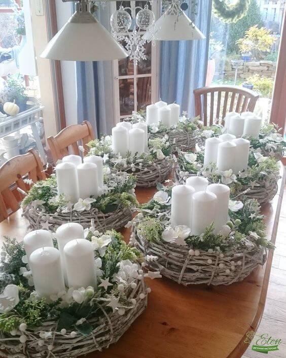 Нежные подсвечники на стол с цветами