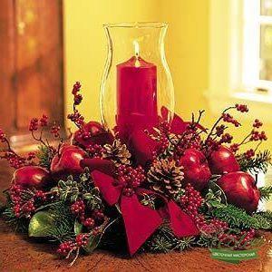 Новогодняя композиция на стол