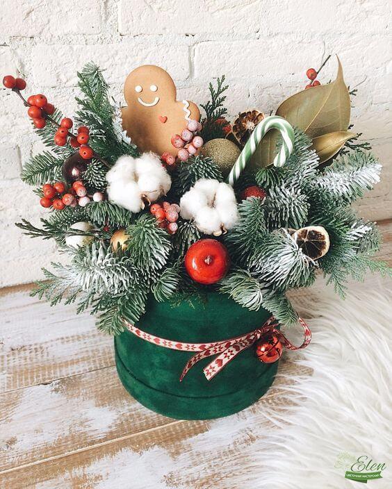 Праздничная коробка новогодняя