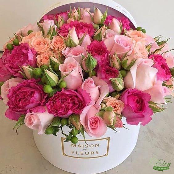 Купить Цветы в коробке Николь - Цветочная мастерская