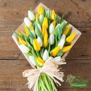 Букет белоснежных тюльпанов Радость