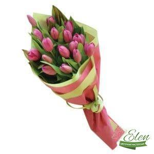 Букет из 17 тюльпан