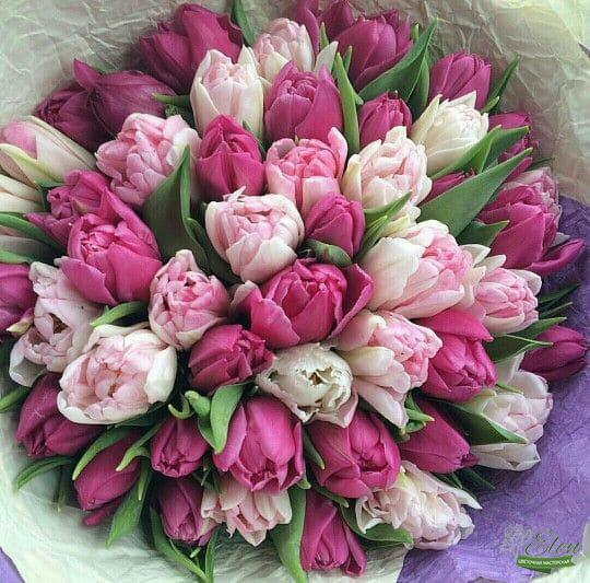 Букет тюльпанов Розовый микс