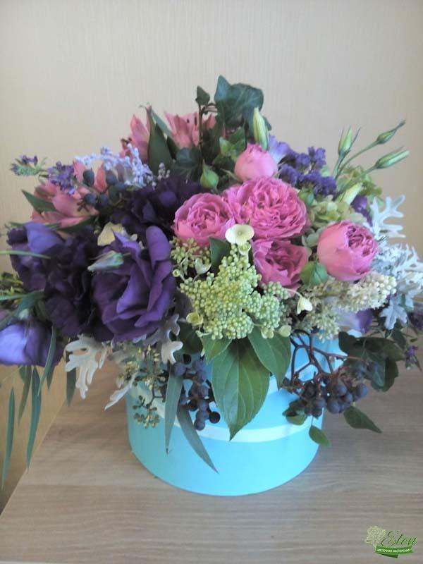 Шляпная коробка с цветами Восторг