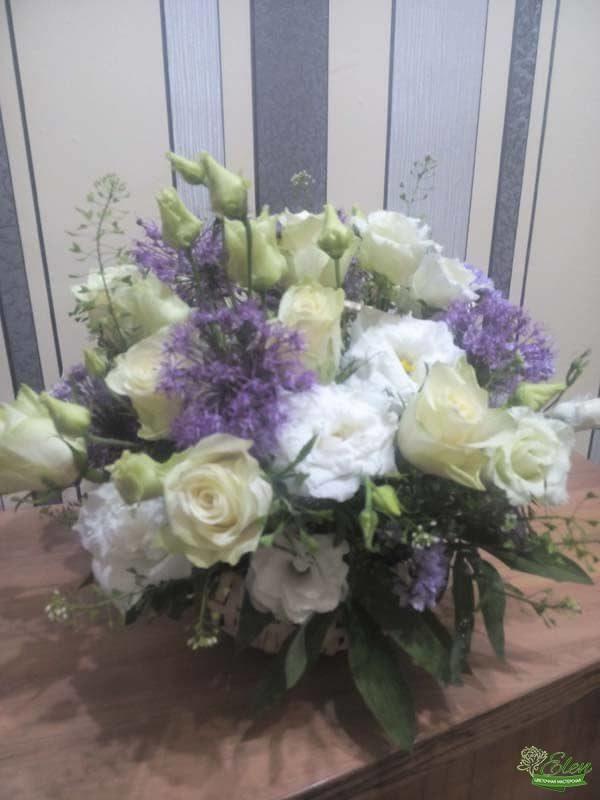 Цветы в корзинке Позитив